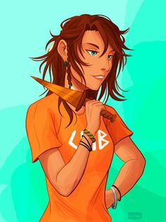 I adore her by Alexgv-art Percy Jackson Fan Art, Percy Jackson Books, Percy Jackson Fandom, Piper And Jason, Jason Grace, Piper Mclean, Magnus Chase, Daughter Of Poseidon, Trials Of Apollo