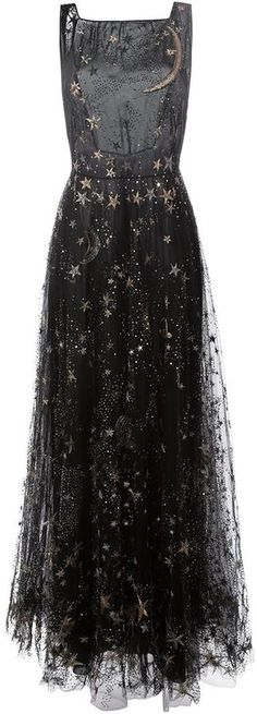 Valentino star and moon embroidered evening…