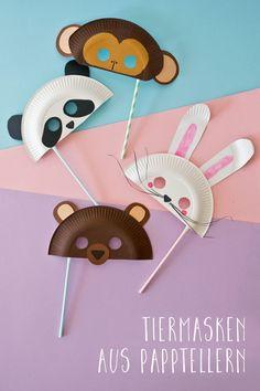 Sü�e Tiermasken basteln: Welche ist dein Liebling?