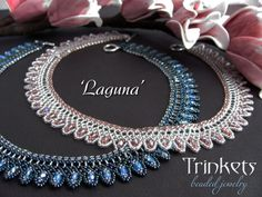 Tutorial for beadwoven necklace 'Laguna'  PDF di TrinketsBeadwork