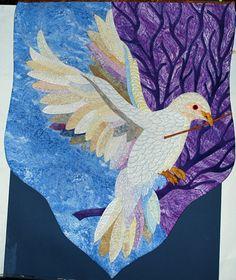 Dove quilt by Mary Buvia