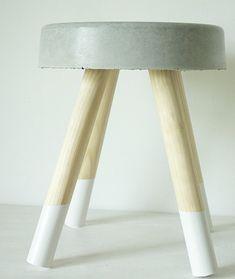 betonnen krukje wit 2