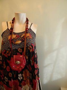 vintage.  Indonesian Red and Black Batik Dress // Tent Dress // 1970s dress // S M. $44.25, via Etsy.