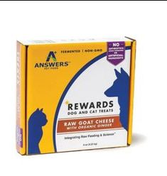 Answer's Pet Food Answers Rewards Raw Goat Cheese Treats Ginger 8 oz (*Frozen Products for Local Delivery or In-Store Pickup Only. *) Organic Superfoods, Organic Turmeric, Raw Pet Food, Organic Blueberries, Natural Dog Treats, Cat Treats, Spirulina, Goat Cheese, Healthy Fats