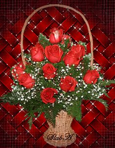 Beautiful Bouquet Of Flowers, Beautiful Rose Flowers, Beautiful Gif, Types Of Flowers, Rose Flower Wallpaper, Vintage Flowers Wallpaper, Coeur Gif, Valentines Gif, Happy Mothers Day Wishes