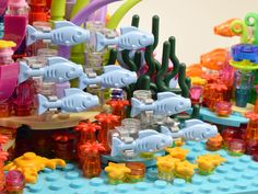 Lego Zoo, Lego Creationary, Lego Craft, Legos, Coral Reef Aquarium, Hama Beads Minecraft, Perler Beads, Lego Pictures, Lego Design