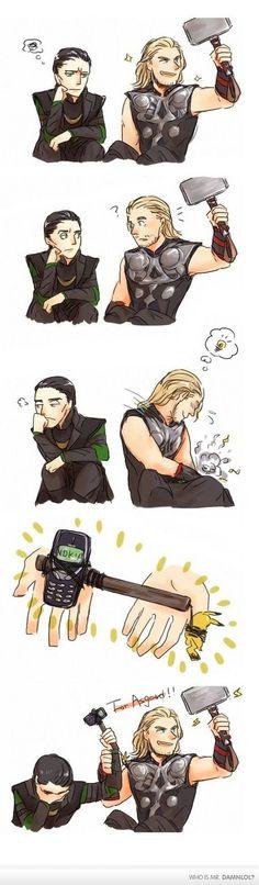 Hahaha, Loki gets a Nokia-jnir.