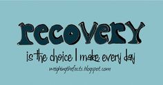 Recovery is the choice I make every week, every day, every hour.