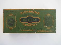Excited to share the latest addition to my #etsy shop: Richmond Gem cigarette tin (100) by The American Tobacco Co http://etsy.me/2C82Utw #vintage #collectables #tobaccocollectibles
