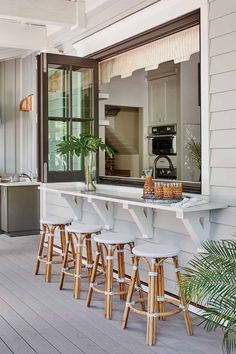 Pass Through Kitchen, Kitchen Pass, Open Kitchen, Dream Beach Houses, My Dream House, Small Beach Houses, Fun House, Southern Living Homes, Southern Kitchens