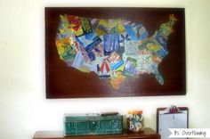 Easy home decorating ideas diy wall art diy wall and scrabble board do it yourself wall art decor great tip for any style could replace scraps with some of the favorites from the tons of preschool artwork solutioingenieria Gallery