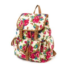 Floral Print Textured Backpack | Claire's
