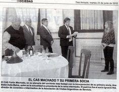 CAS Fortín Machado celebra la incorporación de su primera socia Ana Belén Della Malva.