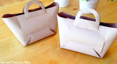 How To Make A Brown Paper Goodie Bag!One Good Thing by Jillee | One Good Thing by Jillee