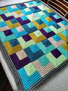 Ravelry: Project Gallery for Illusion Throw pattern by Poppy & Bliss (Michelle Robinson)