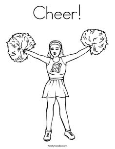 bratz coloring pages cheerleading outfits - photo#16