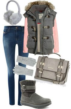 Autumn outfit with duffle gilet Fashion Pics, Fashion Ideas, Blog Love, Dress To Impress, Cosy, Outfit Of The Day, Fall Outfits, What To Wear, Fashion Accessories