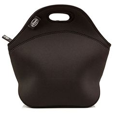 Lunch Bag - Insulated Tote in Thick Neoprene - Fits Large Lunches - Heavy-Duty Zipper and Handle - Black Design [13 X 12.5 X 6.5 inches] - A Designer reusable bag by Noosa Life Noosa Life http://www.amazon.com/dp/B017SB0BQG/ref=cm_sw_r_pi_dp_MlEHwb022JB20