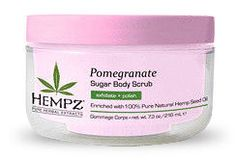Hempz pomegranate sugar scrub, available at Oasis Salon