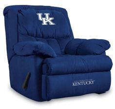 University of Kentucky Home Team Microfiber Recliner