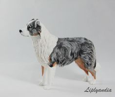 Custom made dog art (figurines, sculptures, reliefs) after photos by Liplyandia. Perfects gift ideas for a dog lover! Dog Sculpture, Sculptures, Dog Artwork, Australian Shepherd Dogs, Handmade Polymer Clay, Art Studios, Pet Portraits, Dog Breeds, Sculpting
