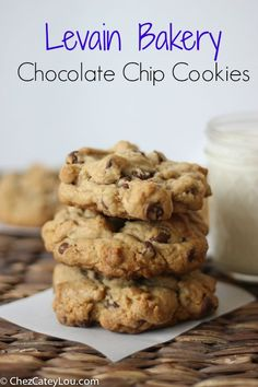 A copycat recipe for the amazing chocolate chip cookies from Levain Bakery in New York City. These enormous cookies are crispy on the outside, soft and gooey on the inside, and might possibly be your new favorite cookie.
