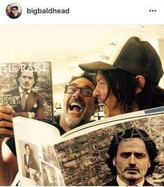The Walking Dead @bigbaldhead #JefferyDeanMorgan #NormanReedus Negan&Daryl