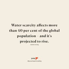 Now is the time to invest in companies that improve access to clean water. Invest for a better world.