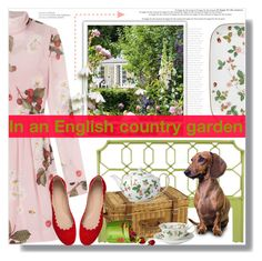 """English Country Garden Contest"" by myfashionwardrobestyle ❤ liked on Polyvore featuring Poolhouse, Selamat Designs, Williams-Sonoma, Wedgwood, RED Valentino, Chloé and country"