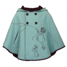 Fly A Kite Cape by Belle & Boo.  68 GB pounds- i'm too lazy to think about that right now.