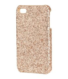 H&M rose gold glitter iPhone 4 case | products i love or want ...