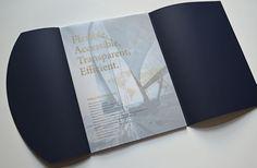 PEFCO Annual Report design first page velum overlay.  #velum #foilstamp #design