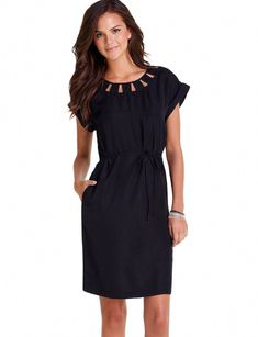 e2b7e7f8c3bb Cutout Neckline Dress - Women's dresses - The Limited  #womensfashionforworkhandbags Fabulous Dresses, Stylish Dresses