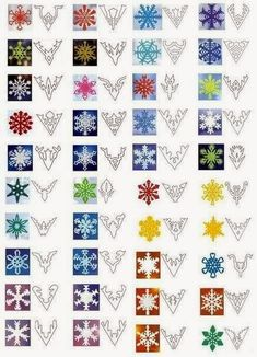 Paper snowflake patterns...very helpful. I'll NEVER do it, but helpful just the same!