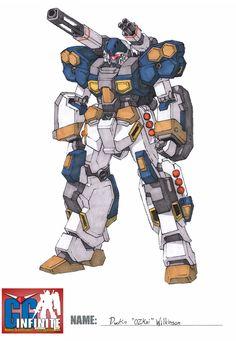 #Gundam Jesta #LineArt scheme