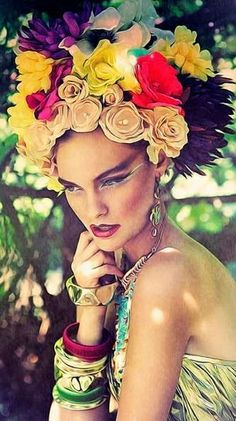 flower headdress #Flowers #hair ☮k☮
