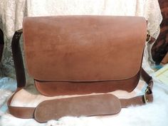 Brown Suede finish. Laptop Tablet case Book by RoundOakLeather