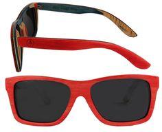 Woodzee Red Skateboard Sunglasses