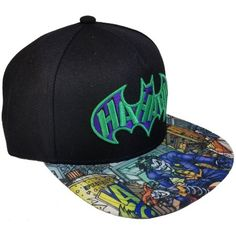 2ec7a507564c2 DC - Men s Joker Embroidered Flat Bill Hat with Screenprinted Bill -  Walmart.com