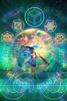 Visionary art. Sacred geometry.