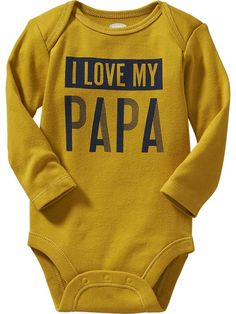 Long-Sleeve Family Graphic Bodysuits for Baby