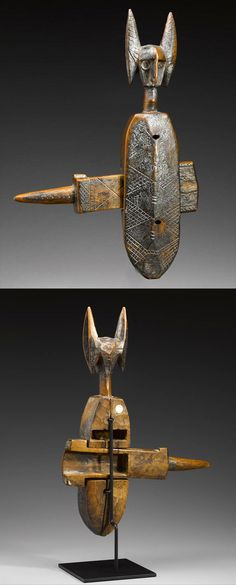 Africa | Door lock from the Bamana people of Mali | Wood and metal