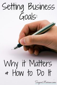 Find out why setting business goals MATTERS... plus HOW to set business goals! These are great tips for freelancers, bloggers, & home-based small business owners. Goal setting can make a big difference for your business & can set you up your success in the long-term when you do it right!