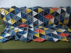 Ottilie Wagner: Häkeldecke of triangles
