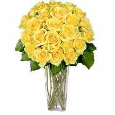 These bright 24 Yellow Roses will bring a smile to their face. Your selection includes 24 Yellow Premium Long Stem Roses (approximately 22 - 24 inches long) accented with greenery and Baby's Breath. Also included are a quality message card floral preservative and flower care information.