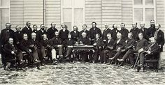 Below is a picture of the founding fathers at the second conference of confederation. This week we need to thank these men for establishing the idea of Canada.