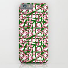 Squiggly Candy Canes for Christmas iPhone & iPod Case