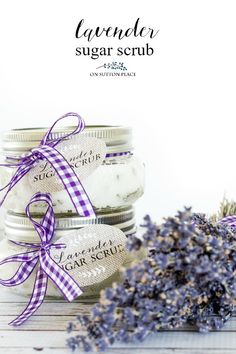 This DIY Lavender Sugar Scrub Recipe is the perfect, 4 ingredient answer to dry hands and feet. Use any time to restore moisture and clear away dead skin. Easy and fast!