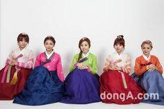 Em 2014, Ladies'Code se reuiniram para fotos em comemoração ao dia Chuseok <3