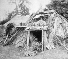 Maidu home. :: Northeastern California Historical Photograph Collection